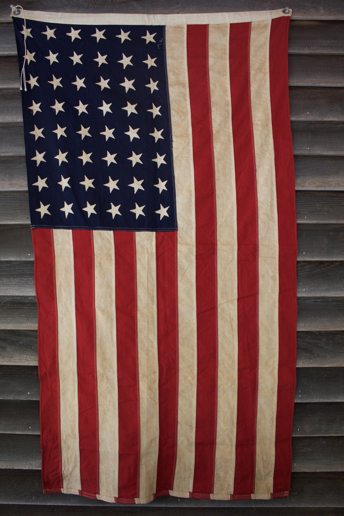 48 Star American Flag - Diamonds & Rust