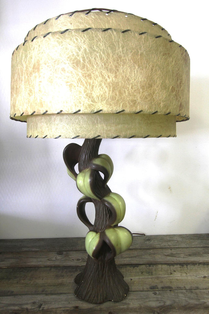 Vintage Ceramic Tree Lamp