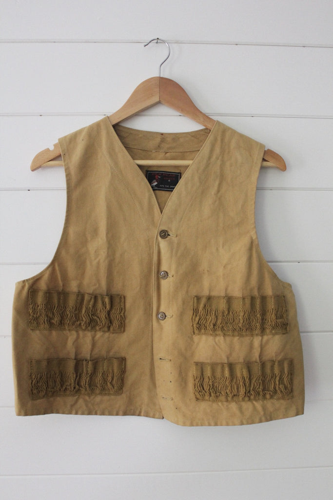 1940s Canvas Hunting Vest