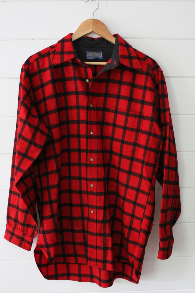Vintage Pendleton Wool Shirt - Diamonds & Rust