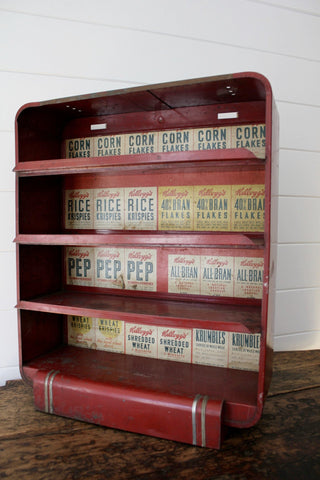 1930s Kelloggs Cereal Display Shelf