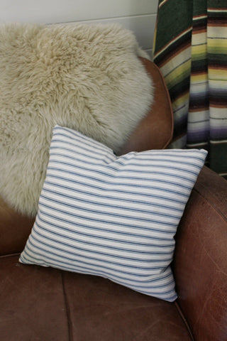 D&R Salvaged Ticking & Denim Pillow