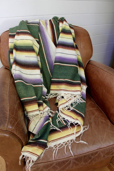1950s Era Mexican Serape - Diamonds & Rust