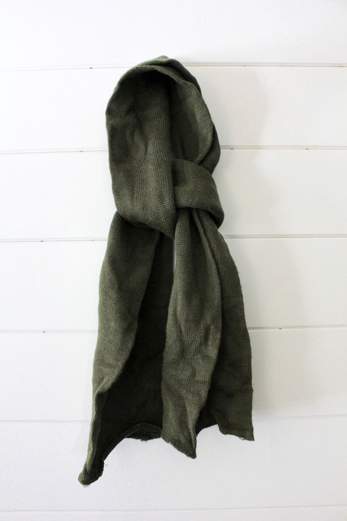 Vintage Wool Military Scarf - Diamonds & Rust