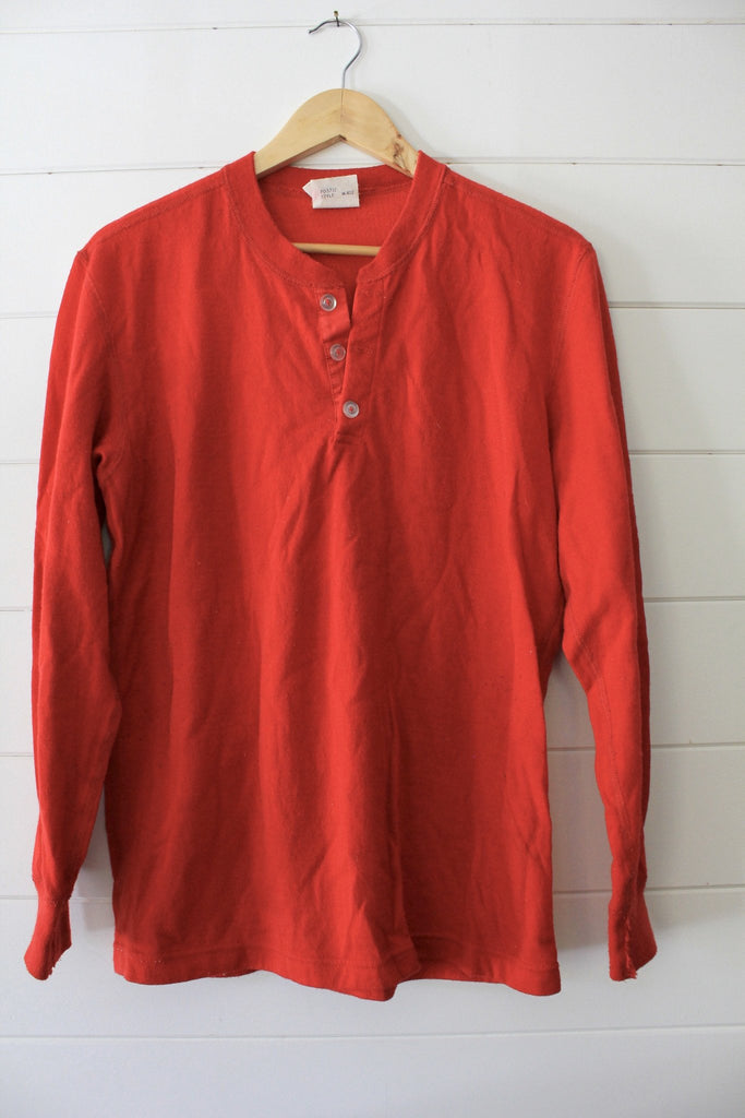 Vintage Cotton Henley - Diamonds & Rust