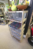 Vintage Wire Basket Storage System