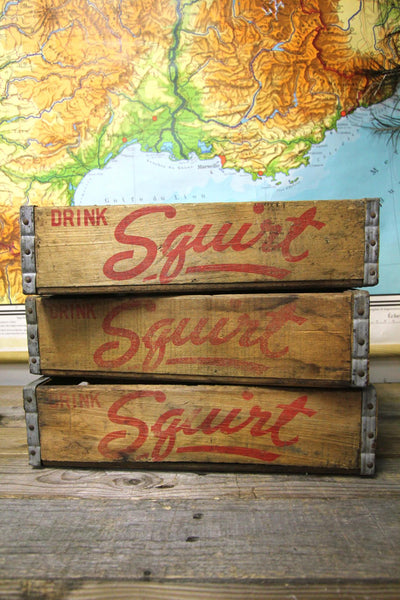Squirt Wood Soda Cases 1960s