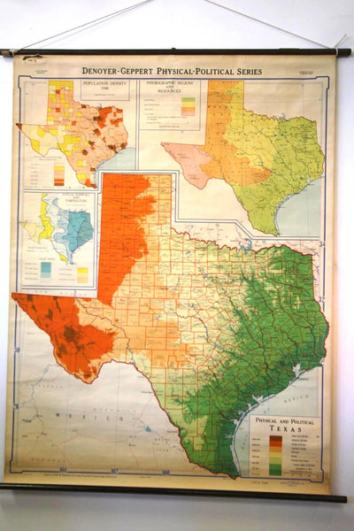 Map Of Texas 1948