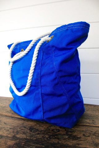 Marine Blue Canvas Tote