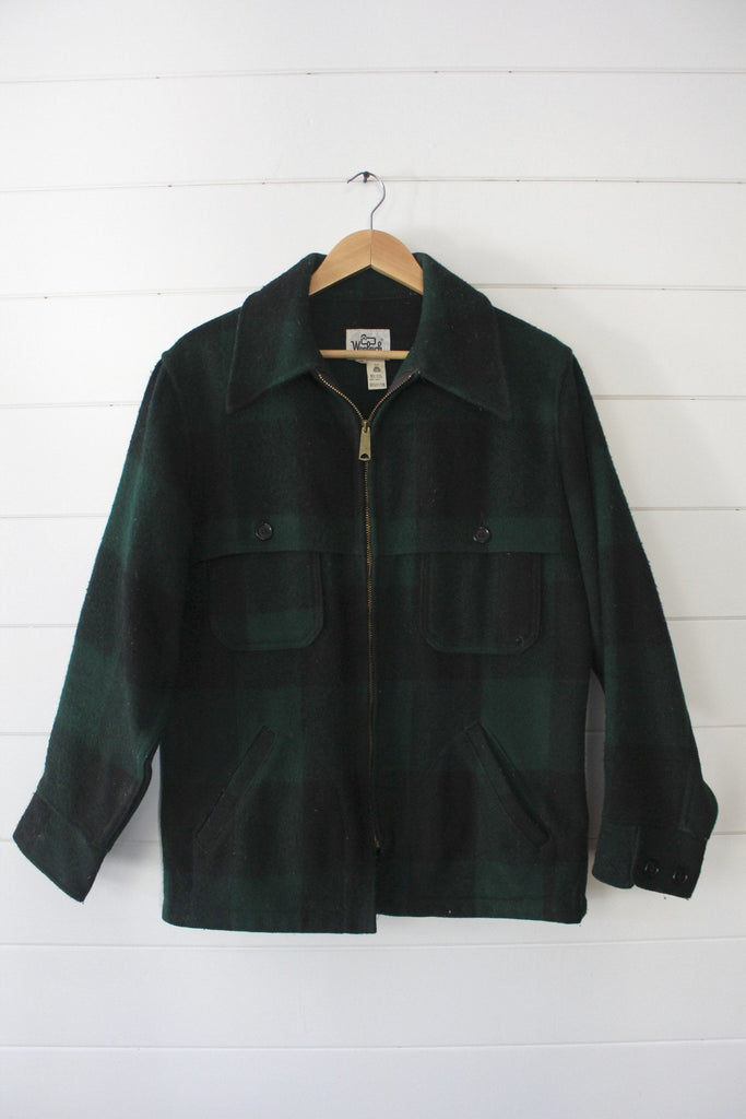 Vintage Woolrich Green Buffalo Plaid Jacket