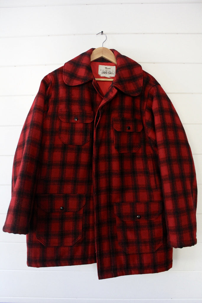 Vintage Woolrich Plaid Hunting Jacket