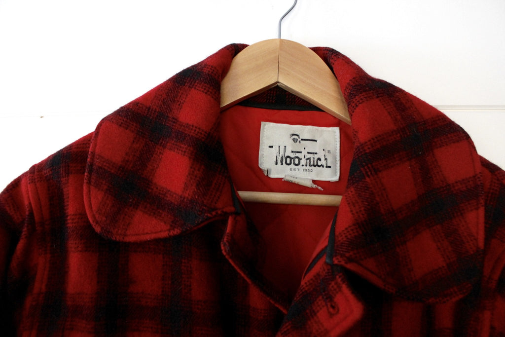 3f739bde5ee7a Vintage Woolrich Plaid Hunting Jacket - Diamonds & Rust