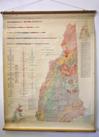 Geologic Map of New Hampshire 1955