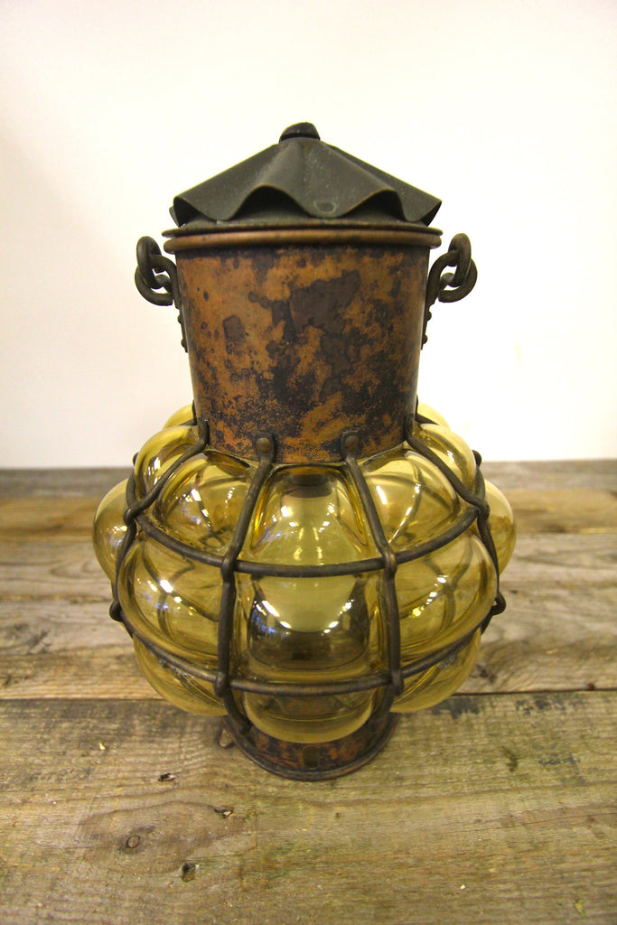 Antique Nulco Copper Hanging Fixture