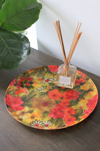 Mid Century Floral Tray