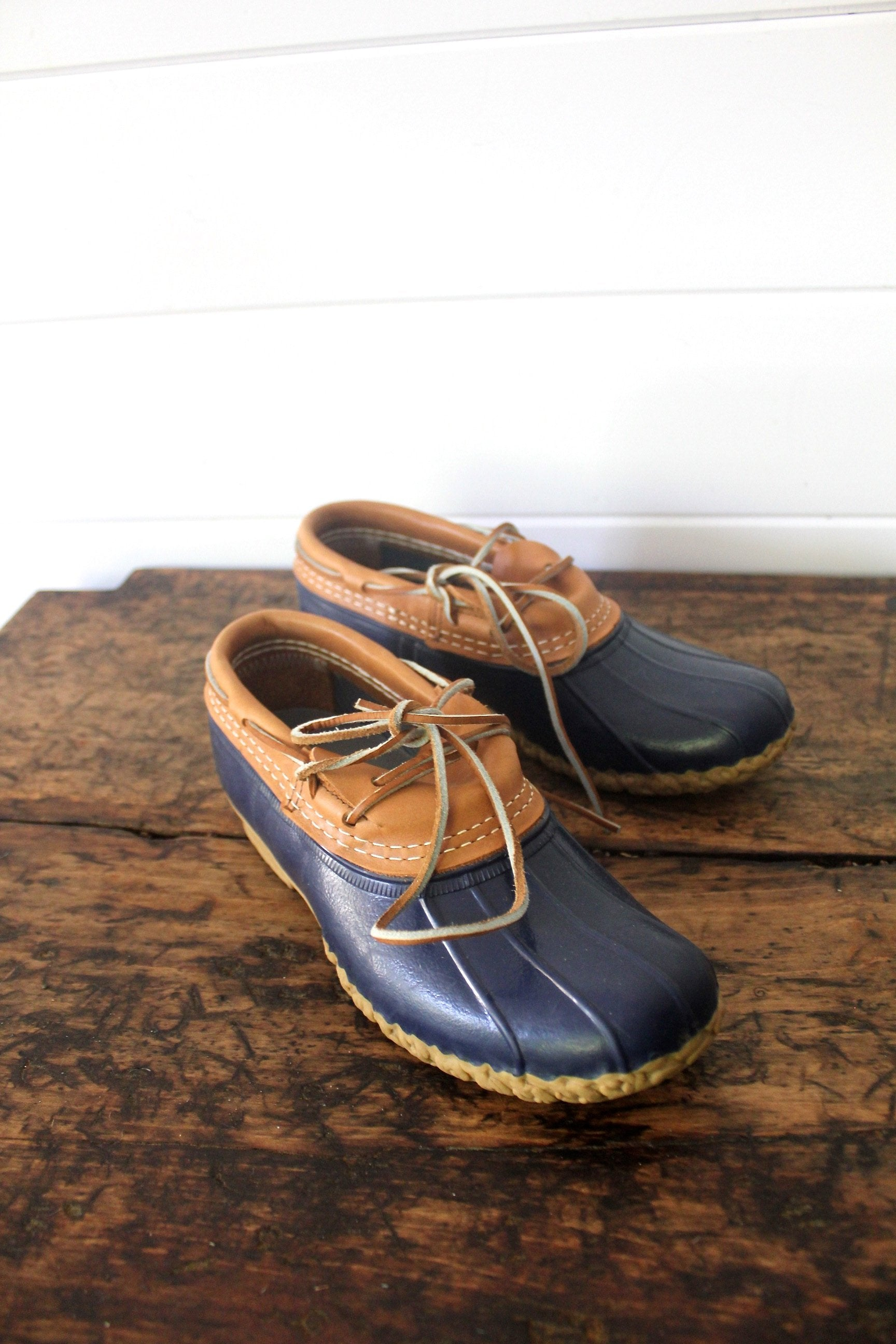 LL Bean Boots Rubber Moc - Diamonds & Rust