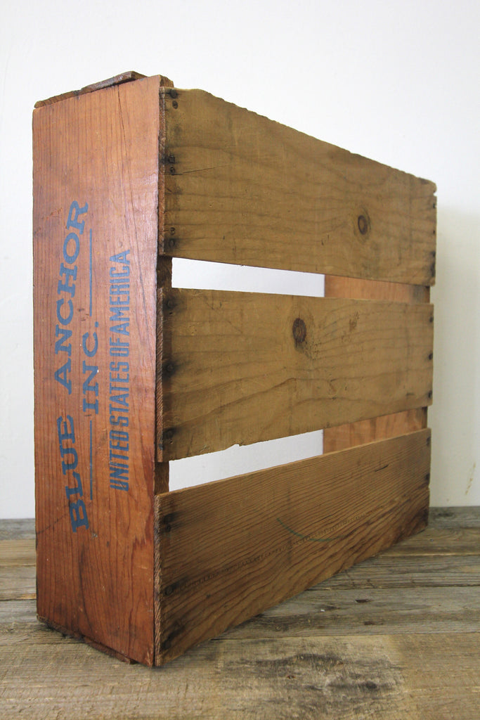 Blue Anchor Inc. Wooden Crate