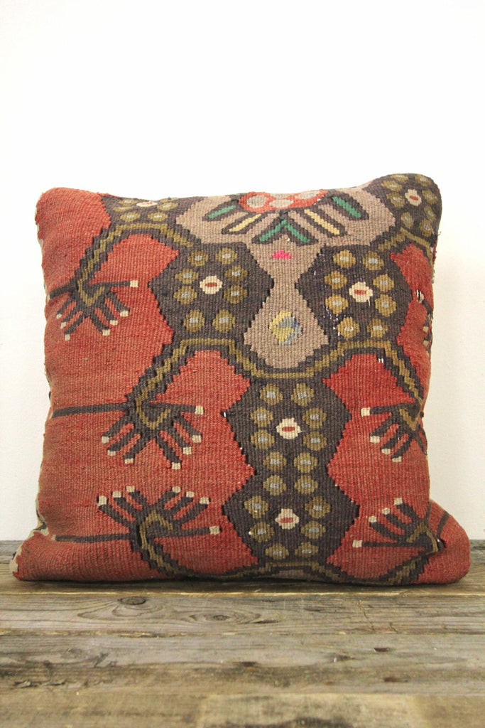 Traditional Turkish Kilim Pillow Cover:18""