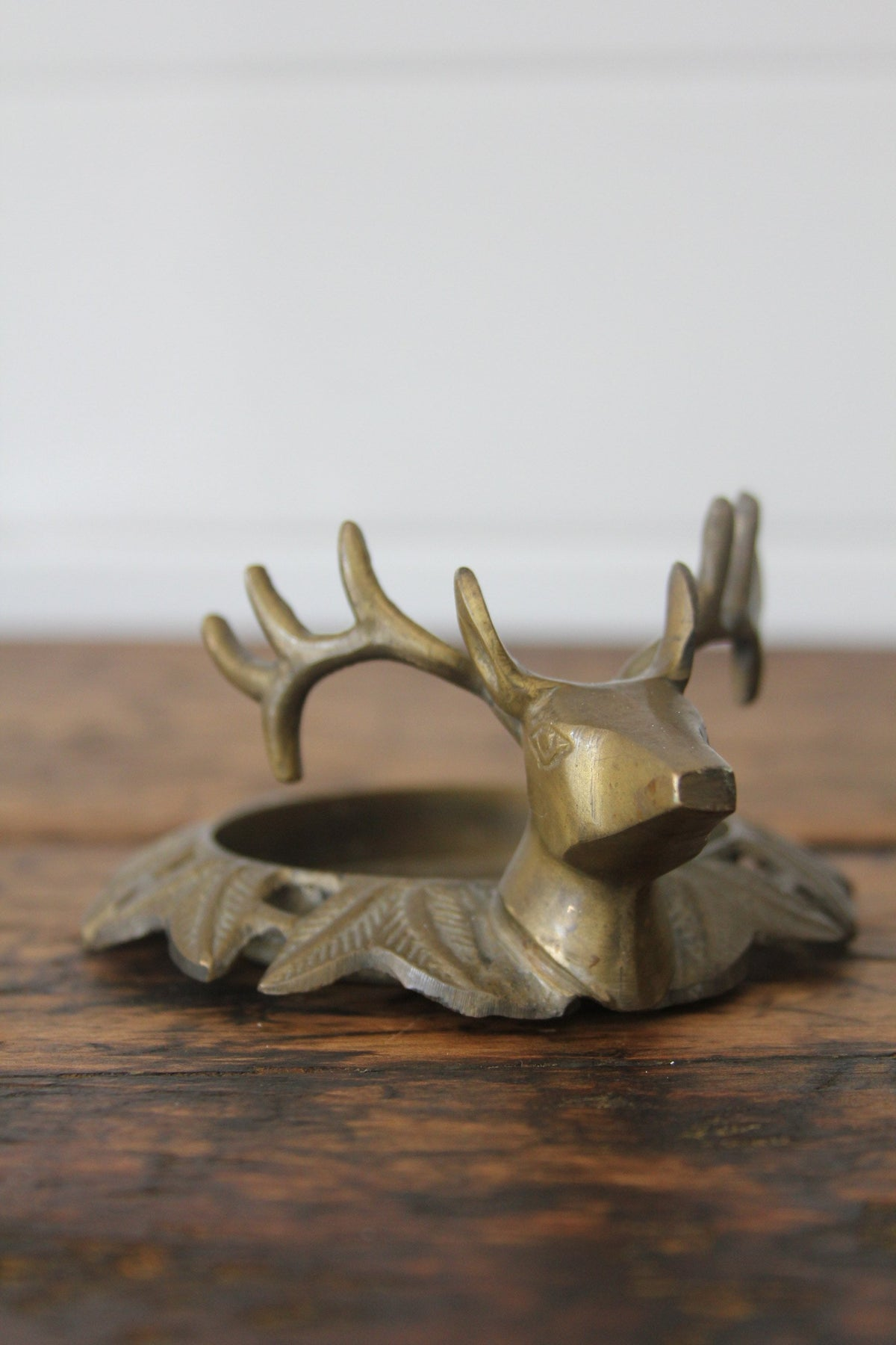 Brass Stag Head Tray - Diamonds & Rust