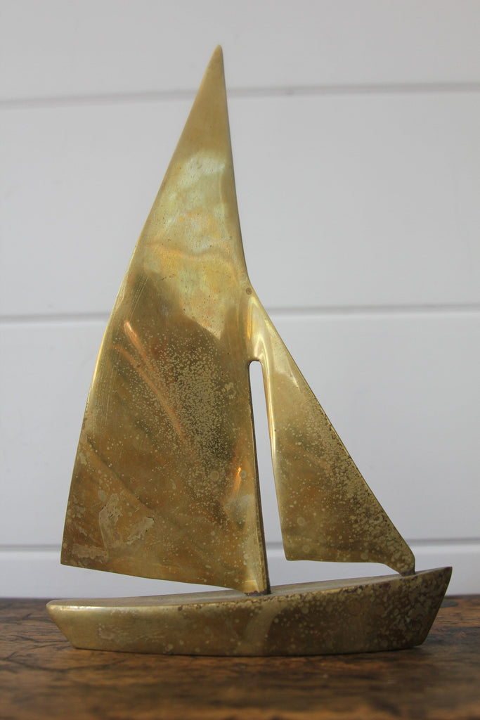 Solid Brass Sailboat
