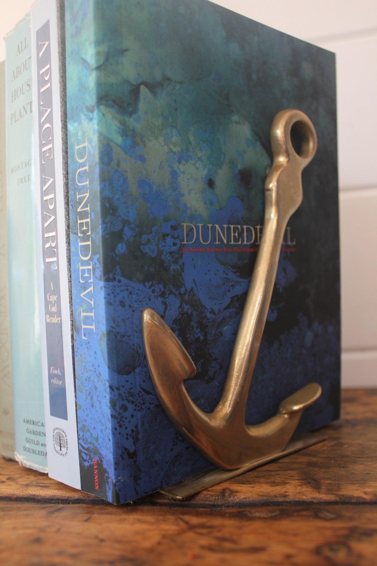 Vintage Brass Anchor Bookends - Diamonds & Rust