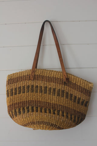 Vintage Sisal Bucket Bag