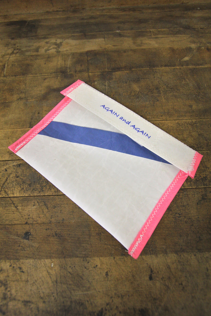 AGAIN AND AGAIN Pouch Pink Trim