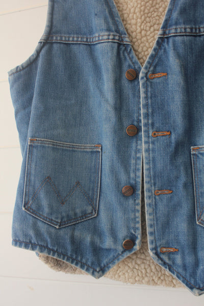 Vintage 70s Maverick Denim Vest - Diamonds & Rust