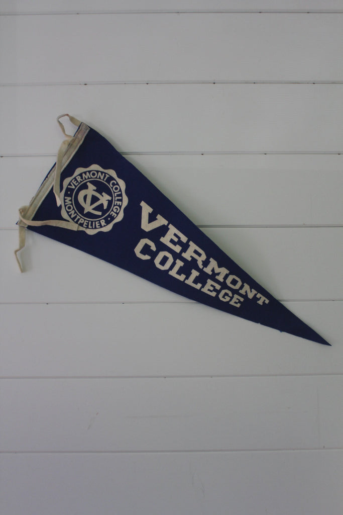 Vintage Vermont College Pennant