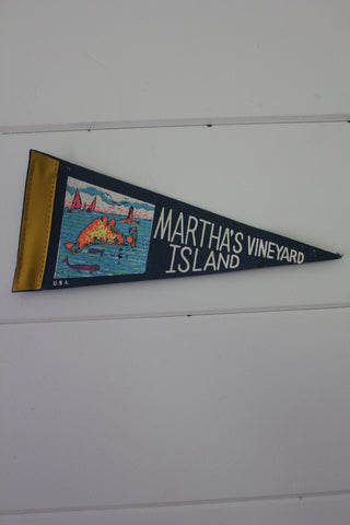 70s Martha's Vineyard Island Pennant