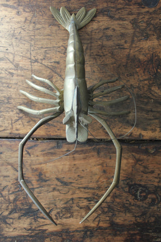 Vintage Brass Lobster
