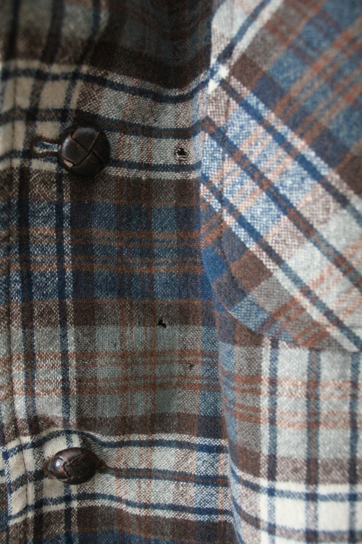 Vintage Pendleton Plaid Shirt - Diamonds & Rust