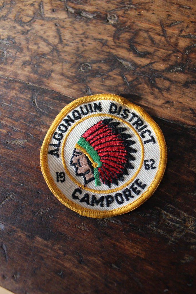 60s Algonquin District Camp Patch - Diamonds & Rust