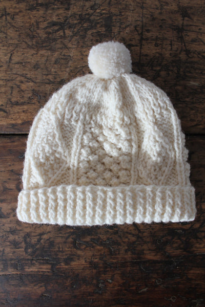 Vintage Wool Knit Hat - Diamonds & Rust