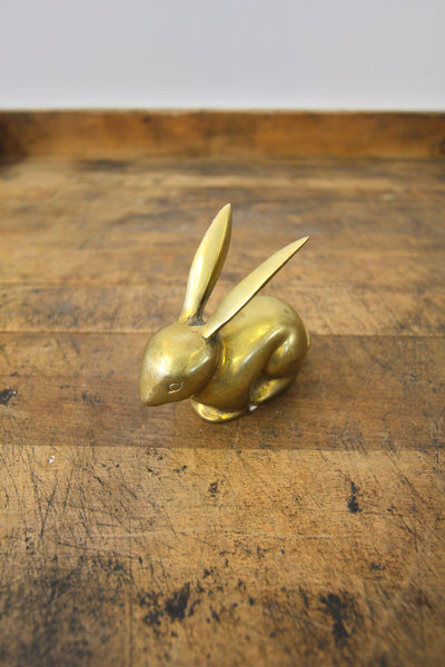 Brass Rabbit Paperweight