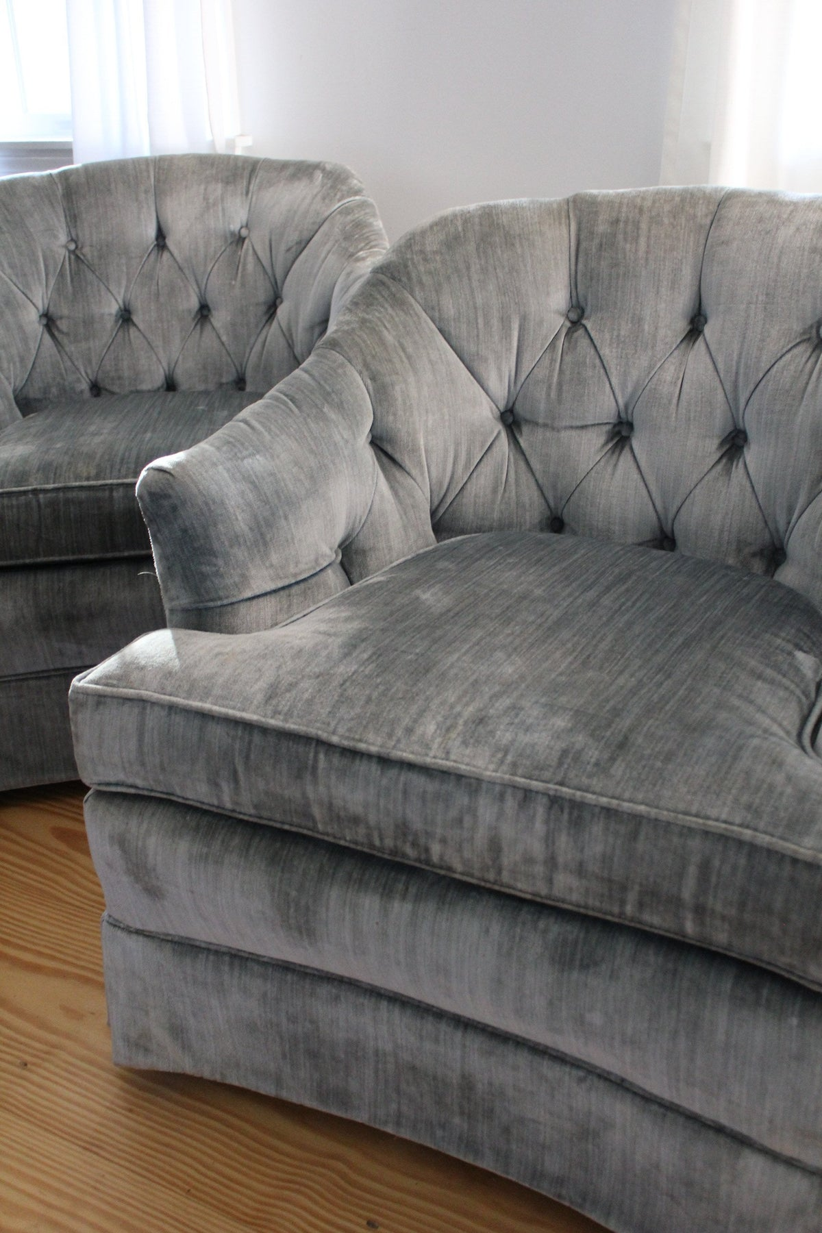 Pair of Vintage Chairs - Diamonds & Rust