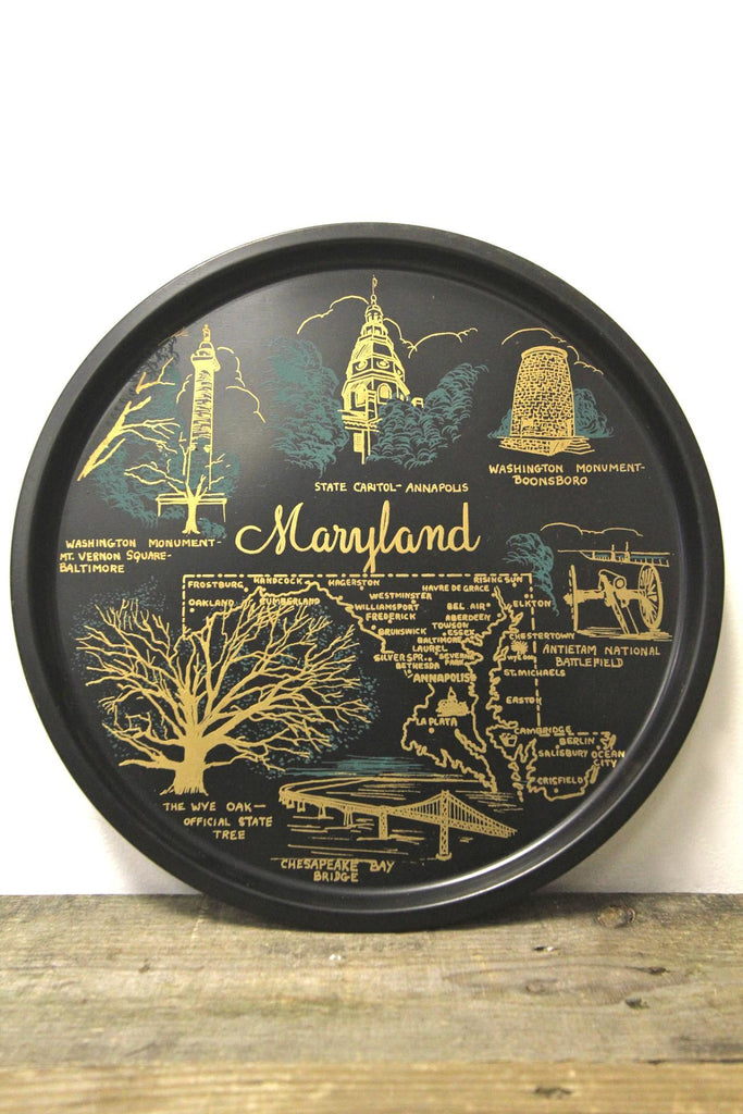 Maryland State Metal Tray