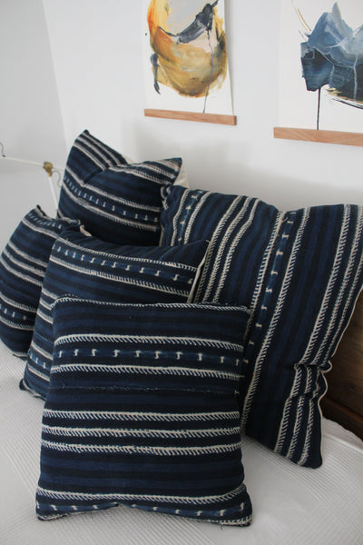 "D&R Indigo Mudcloth Pillow: 20"" - Diamonds & Rust"