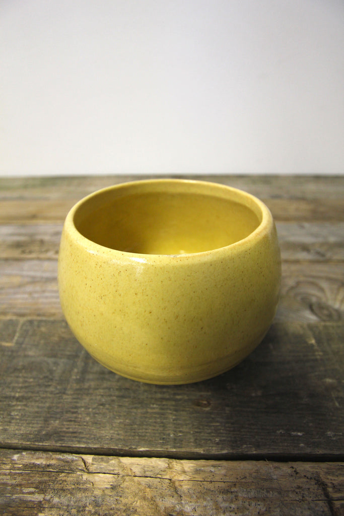 Vintage Ceramic Planter Honey Yellow