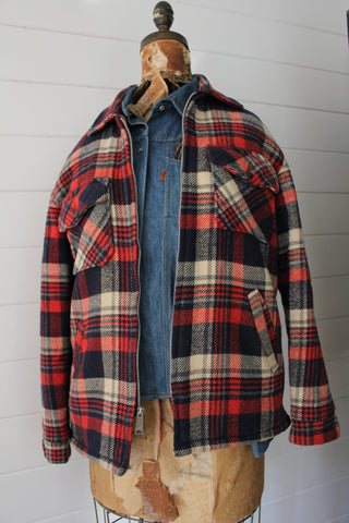 Vintage Wool Plaid Jacket