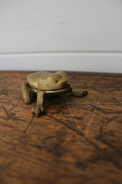 Vintage Brass Frog - Diamonds & Rust