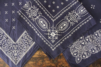 Washfast Colors Bandana - Diamonds & Rust