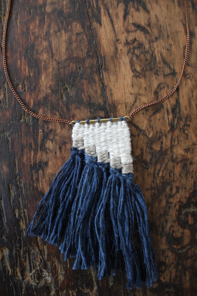 "Fibrous ""Maya Woven Necklace"""