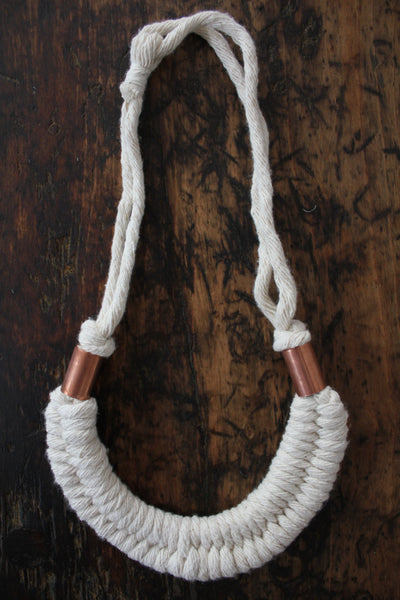"Fibrous ""Natural Dolly Necklace"" - Diamonds & Rust"