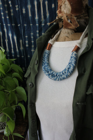 "Fibrous ""Indigo Dolly Necklace"""