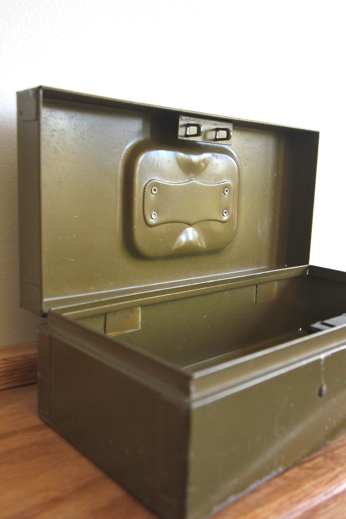 Army Green Metal Box
