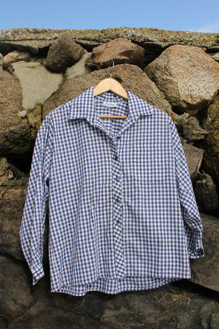 Vintage Gingham Button Down Shirt