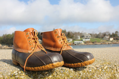 Classic LL Bean Hunting Shoes - Diamonds & Rust