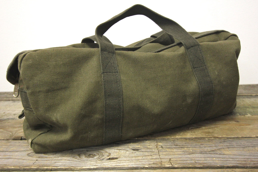 Army Green Canvas Duffle Bag Diamonds Amp Rust