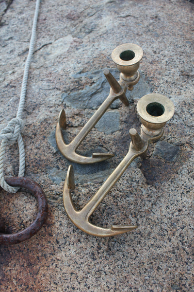 Vintage Brass Anchors - Diamonds & Rust